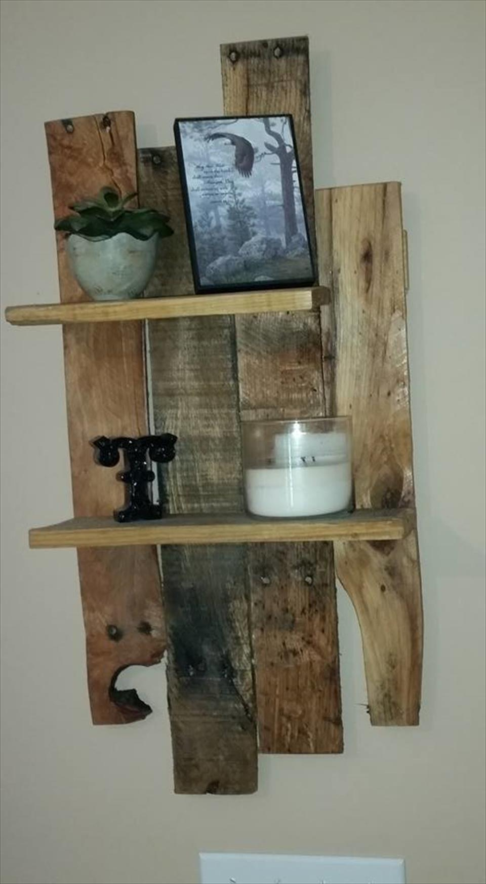 DIY Wall Mounted Pallet Shelf Unit Pallets Joy