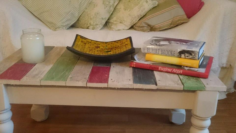 gorgeous pallet coffee table