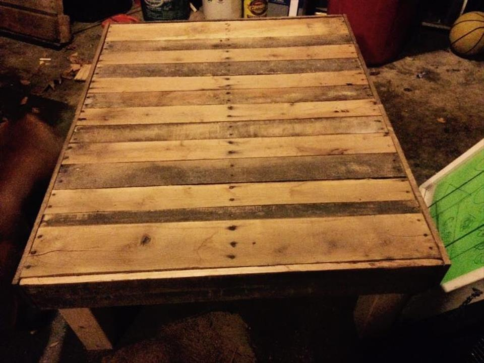 diy pallet large size coffee table