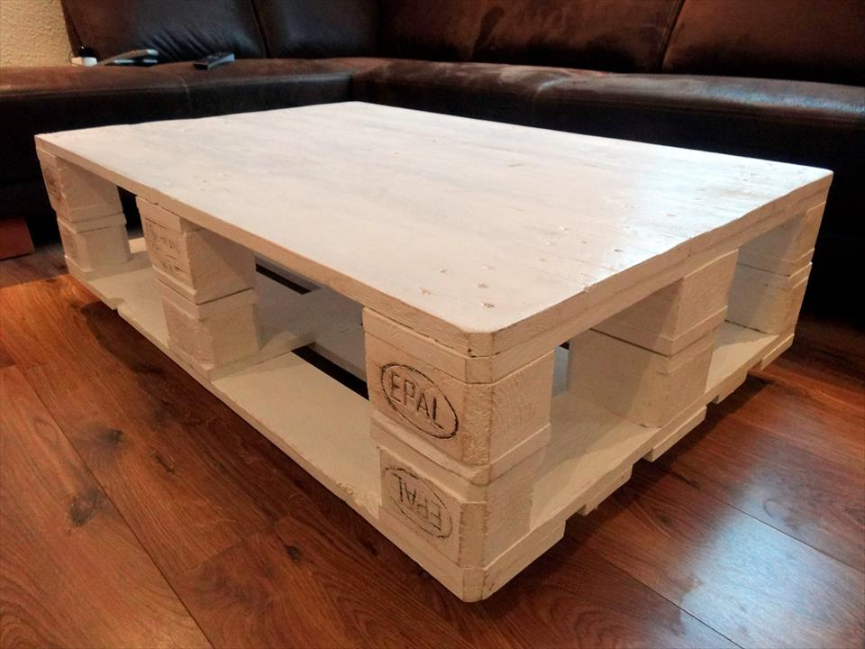 whole pallet coffee table design