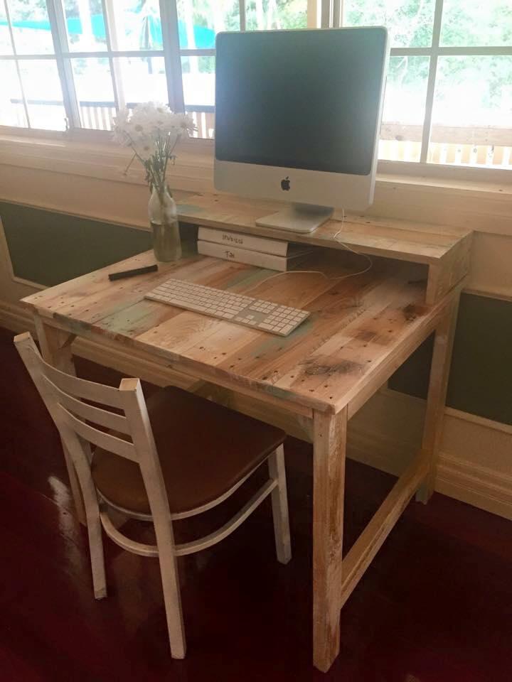 rustic pallet computer desk